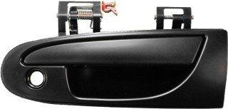 Black Door Handle for CHRYSLER Sebring Coupe (1995-2000); DODGE Avenger (1995-2000); EAGLE Talon (1995-1998); MITSUBISHI Eclipse (1995-1999); Front Left (Driver) Outside