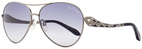 Roberto Cavalli Men's Designer Sunglasses, Shiny Dark Ruthenium/Gradient Smoke, ()