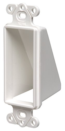 Arlington CED1-10 Cable Wall Plate Insert, Hide Wires, 1-Gang, White, - Dcor Plate Wall