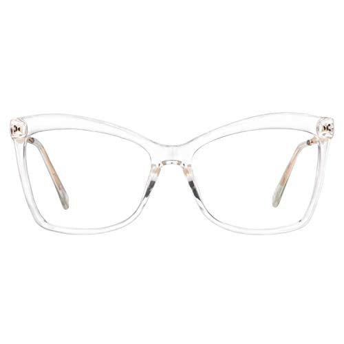Zeelool Large Butterfly Eyeglasses Frame for Women Isaebella FP0044-06 -