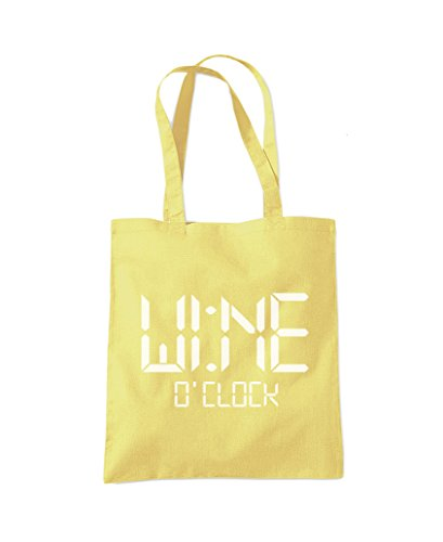 Fashion Tote Bag Lemon Wine Yellow O'Clock Shopper ABF7qnxHw