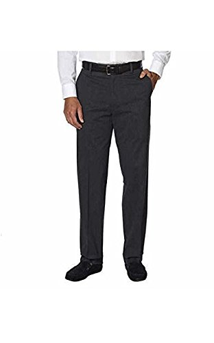 Kirkland Signature Mens Non Iron Comfort Pant Variety of COLORS// SIZES 38W x 34L, Charcoal Heather