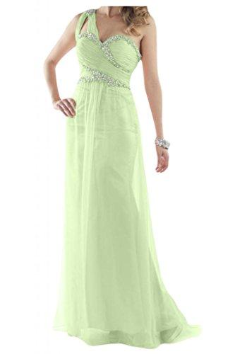 Toscana novia un-hombro de la gasa de alta calidad por la noche vestido de fiesta largo vestidos de bola Prom vestidos Salbei