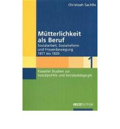 M?tterlichkeit als Beruf: Sozialarbeit, Sozialreform und Frauenbewegung 1871 - 1929 (Paperback)(German) - Common