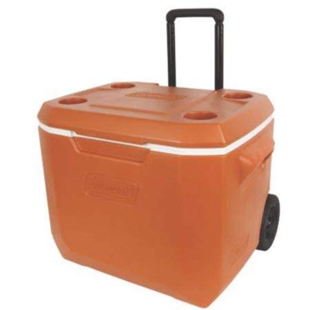 Coleman 50-Quart Xtreme 5-Day Heavy-Duty Cooler with Wheels, Dark Orange by Coleman