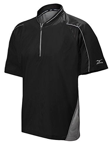 Batting Jersey (Mizuno Protect Batting Jersey, Black, Medium)