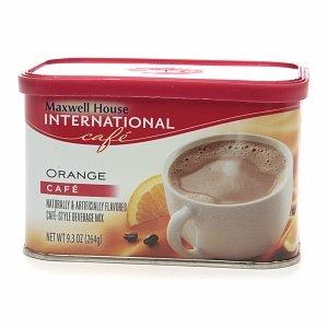 Maxwell House International Cafe Cafe-Style Beverage Mix, Orange Cafe 9.3 oz (264 g) (pack of 5)