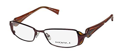 Koali 6778k Womens/Ladies Rx Ready Famous Designer Designer Full-rim Eyeglasses/Eyewear (52-16-135, Plum / Orange / (Full Predator Costume For Sale)