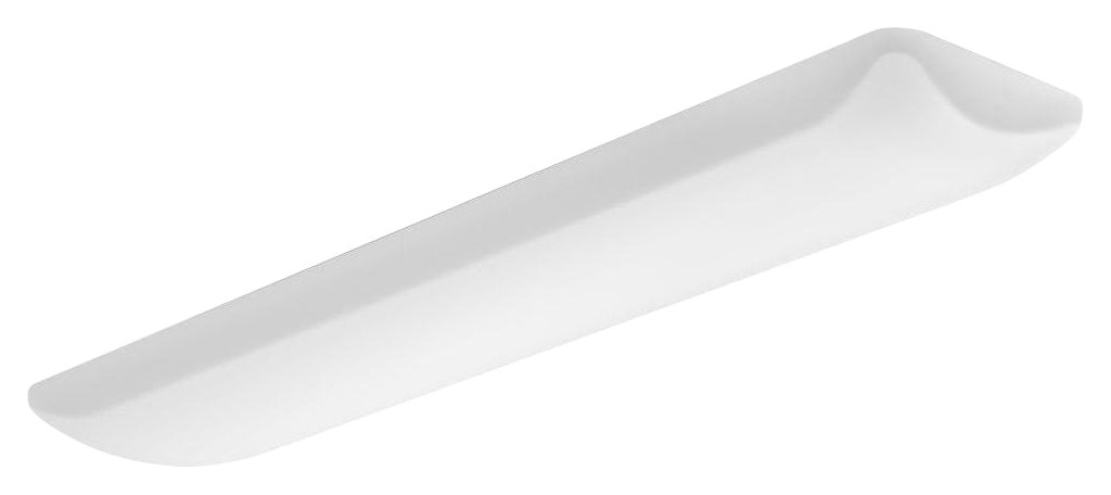 Lithonia Lighting FMLL 14IN 40K 80 CRI LED Rectangle 48-inch by 14-inch Puff Flushmount Light for Kitchen | Attic | Basement | Home, 5000 Lumens, White