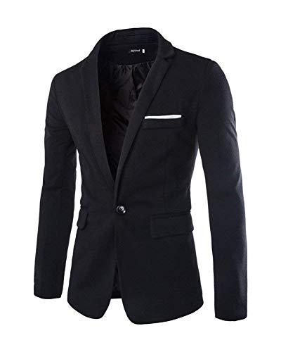 Masculin Smoking Slim Schwarz Fit Mariage Un Affaires Costume Retro Bouton Blazer De Veste Homme R4xaqa
