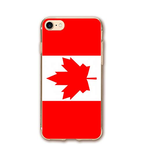 FISHISOK Phone case Compatible with iPhone 7 iPhone 8 Canada Flag.png Lightweight Anti-Fingerprint Slim Soft Covers