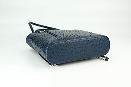 Mano E larghezza nbsp;x Blue Pelle Bellibelli Da Backpack In Altezza 1 Spalla X 28 Con 8 A 2 Profondità Misure Per Donna Zaino nbsp;cm XgqwaYwH