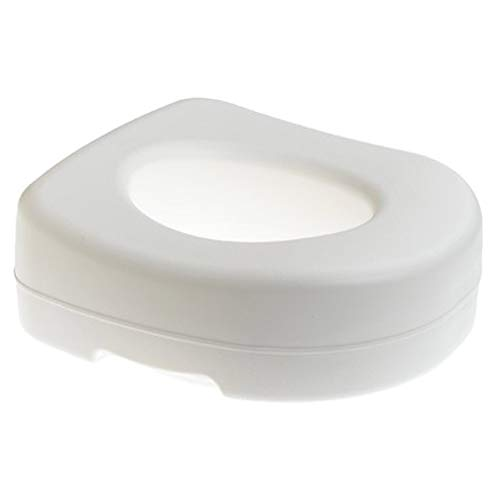 Carex Toilet Seat Riser - Adds 5 Inches of Height to Toilet - Raised Toilet Seat With 300 Pound Weight Capacity - Slip-Resistant from Carex Health Brands