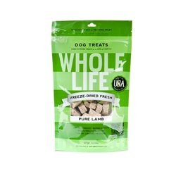 Whole Life Pet Pure Meat All Natural Freeze Dried Lamb Treats 3.3 oz, My Pet Supplies