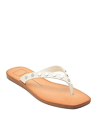 Dolce Vita Clyde Studded Thong Sandals Off White Size 6M