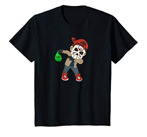 Kids Jason Dab Dabbing Halloween T shirt 6 Black