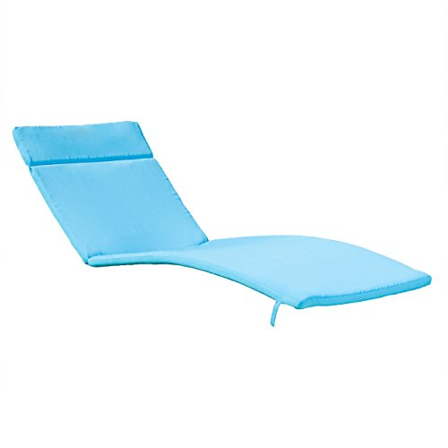 "80""x27.5"" Blue Cushion Pads for Outdoor Chaise Lounge Chairs"