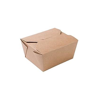 BIOZOYG 450x Caja para Llevar | Caja de cartón | cartón Kraft marrón | 600ml,