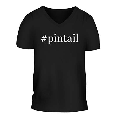 (#Pintail - A Nice Hashtag Men's Short Sleeve V-Neck T-Shirt Shirt, Black, Large)