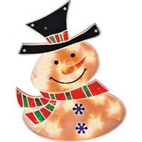Holiday Basix PVC17(16)-20L 20-Light Window Snowman, 16-Inch