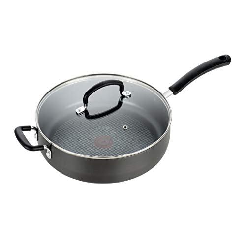 T-fal, Ultimate Hard Anodized, Nonstick 5 Qt. Jumbo Cooker, Black, E76582, 5 Quart, Grey