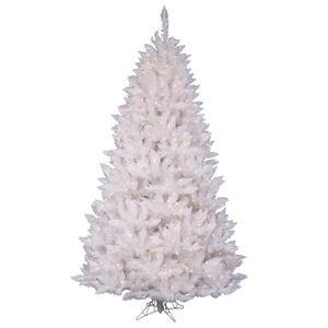 Vickerman Spruce Sparkle White Christmas Tree with 100-Pu...