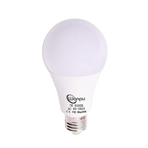 Cheap Motion Sensor Light Bulb 7W Smart Bulb Radar Dusk to Dawn LED Lighting Lamp E27 Base Indoor Sensor Night Lights Cool White 6500K Outdoor Lights with Auto On/Off for Porch, Hallway,Garage by Wanpu