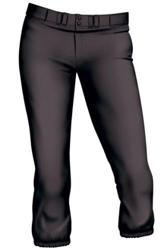 Easton Womens Pro Pant, Black, Small - Low Rise Pro Pant
