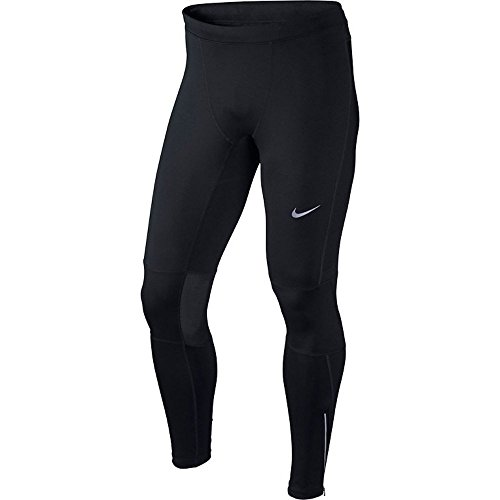 Nike Men's Dri-FIT Essential Running Tights Black/Reflective Silver Size X-Large by Nike (Image #1)