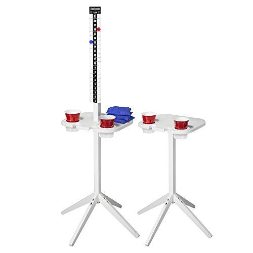 GoSports Scorecaddy Outdoor Game ScoreKeeper & Drink Stand Set, White
