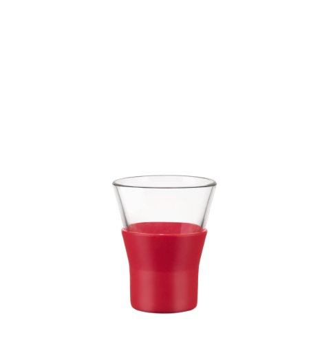 Bormioli Rocco Ypsilon Brio Coffee Glasses, Red, Set of 6 ()