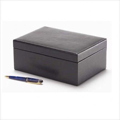 Clava Box (Clava Rectangle Leather Box - Tuscan Black)