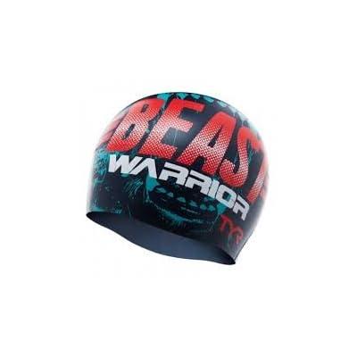 TYR Silicone Cap Bonnet de natation en silicone, estampé Beast Quest Cap Multicolore Taille unique