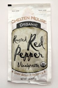 Chelten House Organic Roasted Red Pepper Vinaigrette, 1.5-Ounce Single Serve Pouches (Pack of 60) -