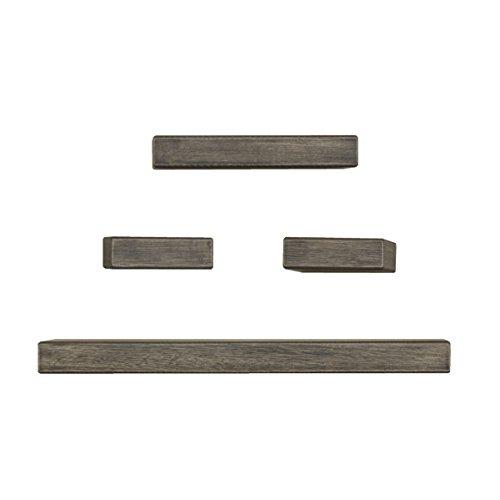 Melannco Chunky Shelves Set, Black, Set of 4 - Chunky Wood Shelves