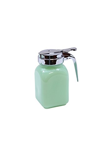 Tablecraft HJ1280 Syrup Dispenser with Metal Top, 6 oz, Green