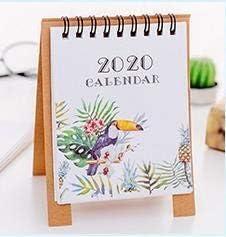 Handzeichnung 2020 Frischen Cartoon Mini Flamingo Desktop-Papier Kalender Dual Täglich Scheduler Tabelle Planner Jahr Agenda Organizer (Color : Toucan)