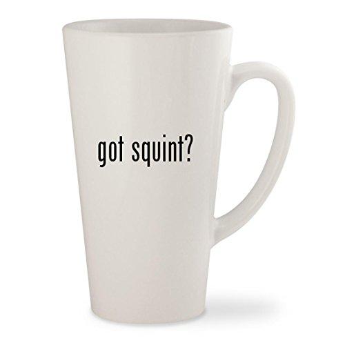 got squint? - White 17oz Ceramic Latte Mug - Costume Sandlot Shirt Squints