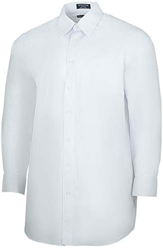 (Henry Segal Men's Poly/Cotton Broadcloth Long Sleeve Dress Shirt, 15-15.5