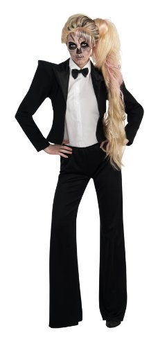 Rockstar Costume Ideas For Adults (Lady Gaga Tuxedo Costume, Black, X-Small)