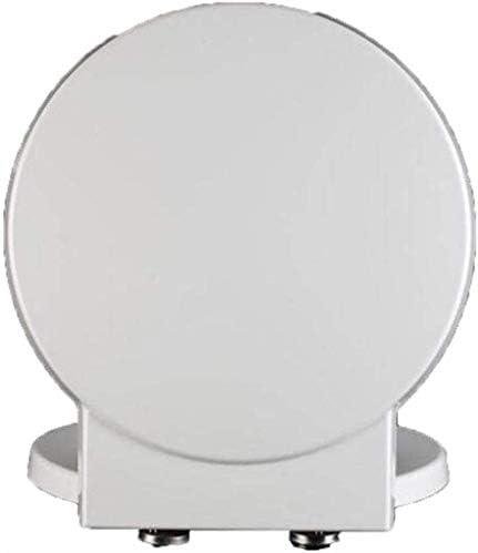 CXMMTGトイレのふた 丸型トイレ用抗菌尿素 - ホルムアルデヒド樹脂ミュート厚みの便座カバー付き便座トイレのふた、ホワイト、41.1から45.7 * 40CM CXMWY-4W0Y2