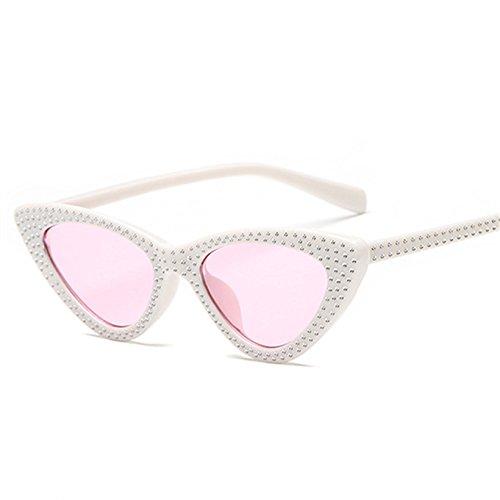 Vintage Blanca Gafas Gafas Sol Rhinestone De De KLXEB Sol Mujeres Sol Rosa Hembra Gafas Mujer Uv400 De Rojo Rojo Pequeños RqHxn7wO