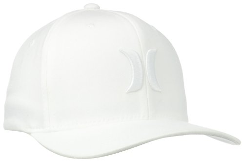 48777e9b8 Hurley Men's One and Only Black White Hat Flex Fit