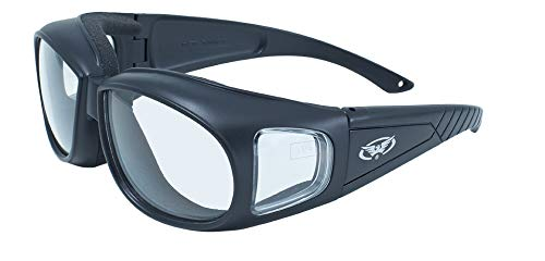 Safety Glasses Motorcycle Sunglasses - Global Vision Outfitter Motorcycle Glasses (Black Frame/Clear Lens)