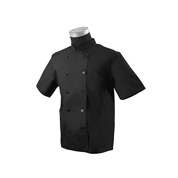 MISEMIYA Chaquetas Bar Restaurante Ropa Cocinero con Mangas Cortas Camisa de utilidades de Trabajo Hombre 3