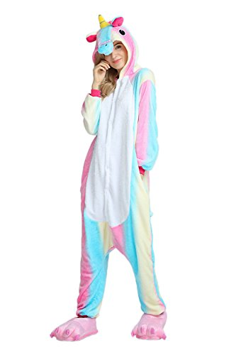 (Pajama Set One Piece Cosplay Party Halloween Costumes Plus Animal Onesie Buttons Zipper Pocket for Adults and Teens (Small,)