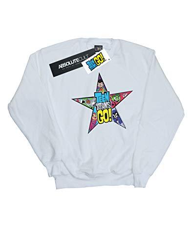 Logo Go Comics Homme Blanc shirt Star Teen Titans Sweat Dc gvqPYOP
