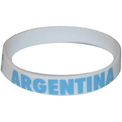 Komonee Argentina White World Cup Olympics Silicone Wristbands Pack 10 Estimated Price £6.99 -