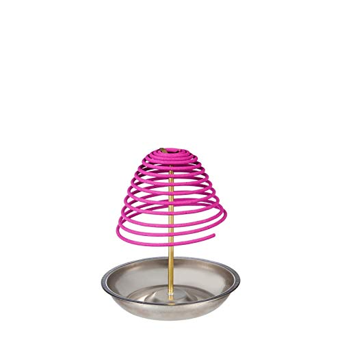 Burning Bracelets Wooden (Evergreen Garden Z-Fence Pink Citronella Z-Incense Spiral with Metal Stand Set)