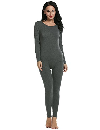 Ekouaer Long Johns Set Womens Soft Modal Light Weight The...